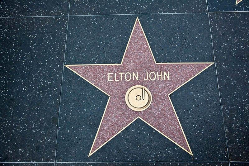Hollywood Walk Of Fame Star Elton John