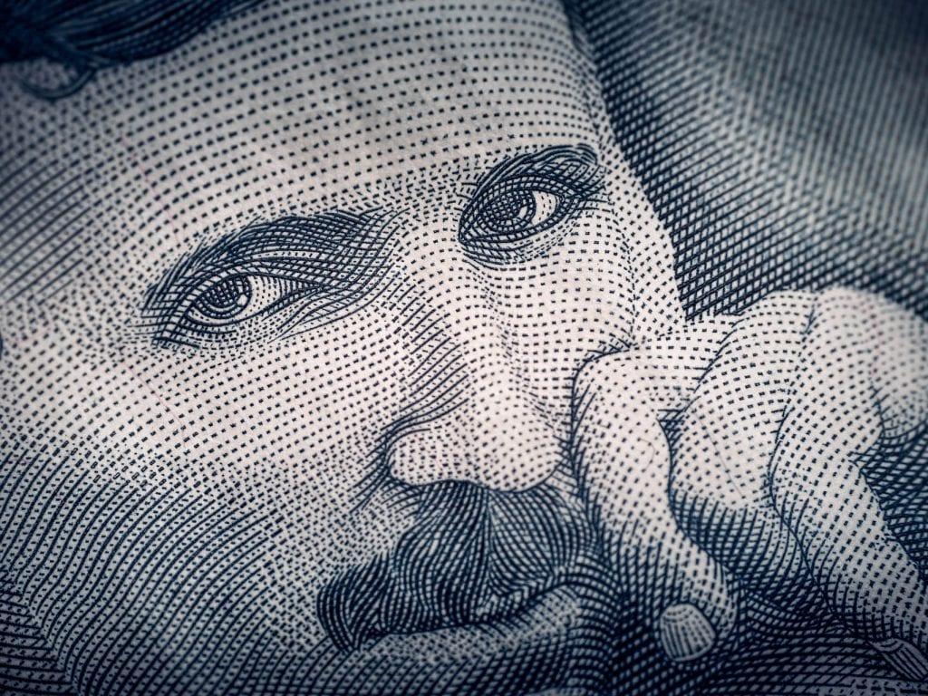 nikola tesla portrait pencil sketch